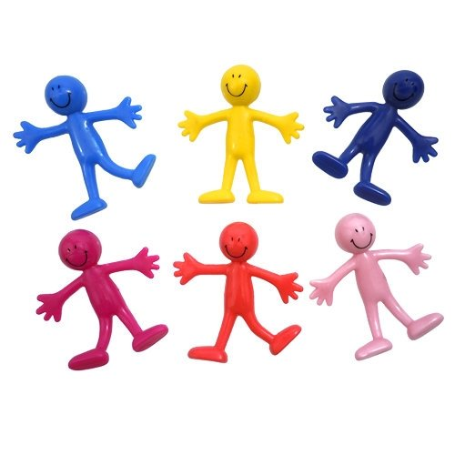 Bendable Smile Men, Multicolored - 12 Pack