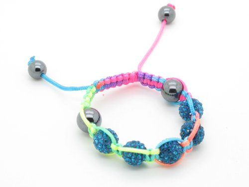 High quality crystal balls shamballa bracelets for children