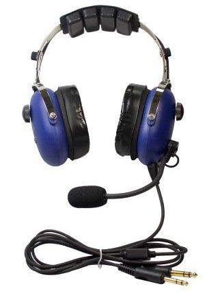 Skylite Sl-900M Aviation Mp3 Headset (Blue)