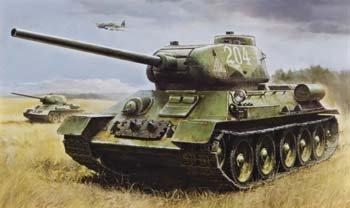 48208 1/35 RC Russian Med Tank T-34-85 4Ch