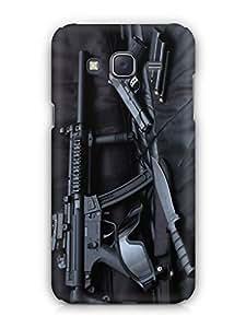 Cover Affair Gun 3D Printed Back Cover Case for Samsung Galaxy J7 (2015)
