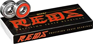 Bones Reds Precision Skate Bearings (8 Pack w/ Y-Tool & Spacers)