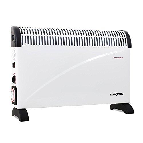 Klarstein HT005CV radiatore elettrico (elegante termosifone, convettore, 2000 Watt, timer, possibilità di montaggio a parete, maniglia per facilitarne il trasporto) - bianco