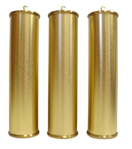 60mm Grandfather Brushed Brass Weight Shell Set - U.S. Made