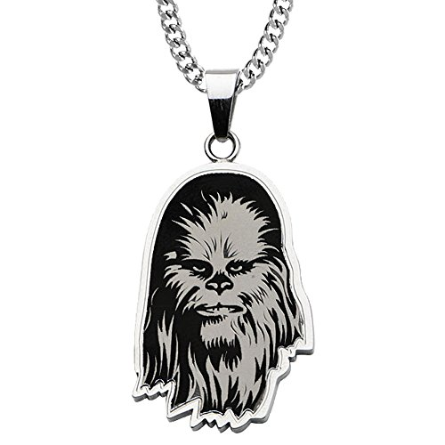 Star Wars Chewbacca Stainless Steel Pendant Necklace With Chain And Gift Box