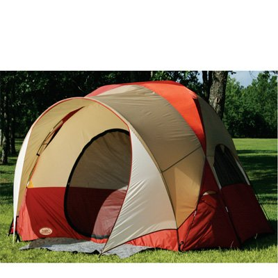 3 Person Dome Tent Three Man Design Tent with Oversized Roof and Entrance Canopy (with Tent Stakes and Carry Bag)
