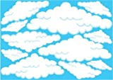 Clouds with Blue Lining Wall Decals/ Stickers/ Graphics