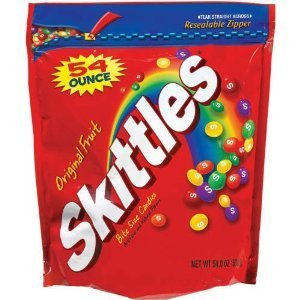 Skittles-Original Fruit Candies, 3.375lb Bag