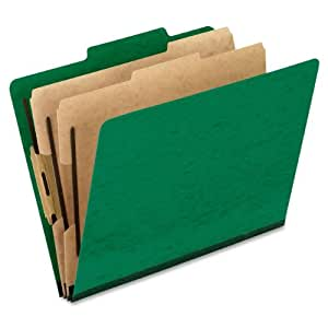 Pendaflex Press Guard Classification Folders, 10 per Box (PFX1257GR)