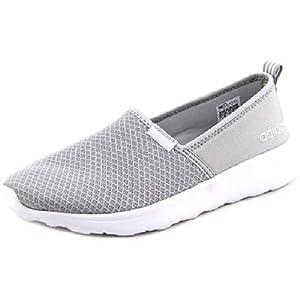 adidas NEO Women's Lite Racer Slip On W Fashion Sneaker, Clear Onyx/Light Onyx/White, 7.5 M US