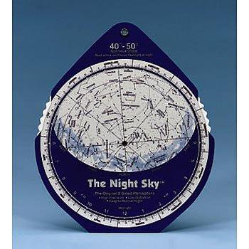 Night Sky Planisphere, 30-40 Degrees N