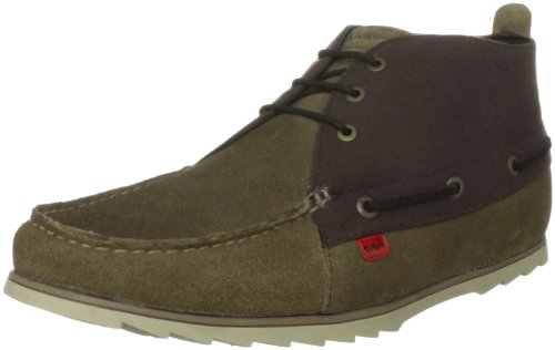 Kickers Men's Nmind Boatie Suede Am Green Slip On Shoe 1-11303 6.5 UK