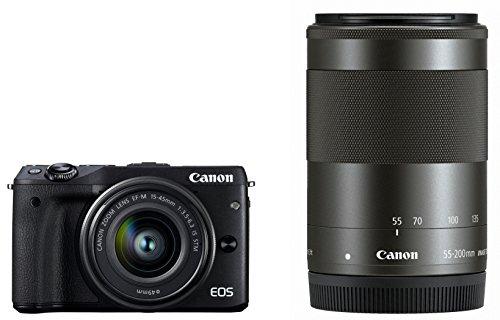 Canon ミラーレス一眼カメラ EOS M3 ダブルズームキット(ブラック...