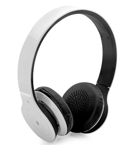 Aduro Amplify Sb10 Bluetooth Wireless Stereo Headphones / Headset With Built-In Mic (Retail Packaging) (White)