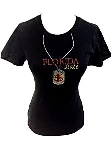 NCAA Florida State Seminoles Ladies Plus Short Sleeve Jersey Crew Neck Knit T-Shirt... by Collegiate Fashionista