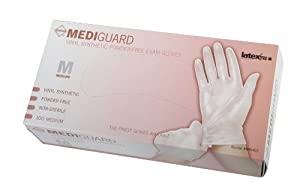 MediGuard Select Powder-Free, Latex-Free Synthetic Exam Gloves, L
