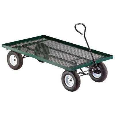 Metal Deck Wagon Garden Cart - 60in L x 36in W 800-Lb Capacity Model 04775B0000E1VTZ
