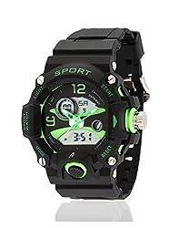 Yepme Mens Analog Digital Watch - Black/Green