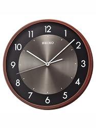 Seiko Wall Clock (30 cm x 30 cm x 4.5 cm, Brown, QXA615ZN)