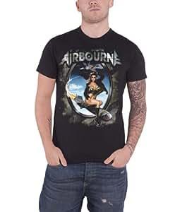 Airbourne Rocket Girl Official Mens T Shirt (S)