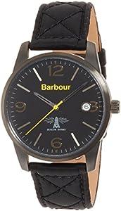 Barbour BB026BKBK Mens Alanby Black Leather Strap Watch