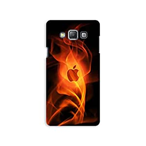 Mikzy Apple Logo In Fire Printed Designer Back Cover Case for Samsung A7 (Multicolour)