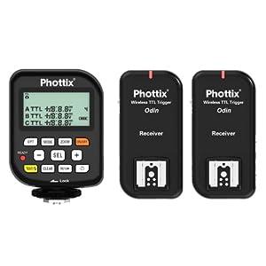 Phottix Odin TTL Flash Trigger For Nikon, Two Receiver