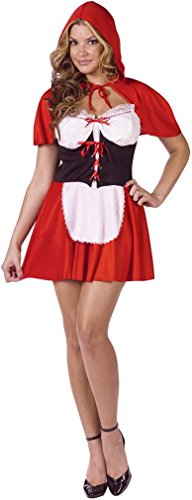 Red Hot Riding Hood Costume - Medium/Large - Dress Size 10-14