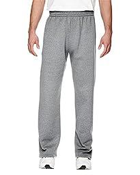 Fruit of the Loom Best Collection Men\'s Fleece Elastic Bottom Pant,HEATHER GREY,2XL