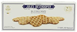 Jules Destrooper Butter Crisps, 3.5-Ounce Boxes (Pack of 12)