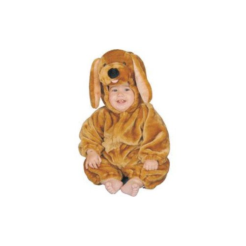 Kids Plush Brown Puppy Infant Costume Size 12mo.