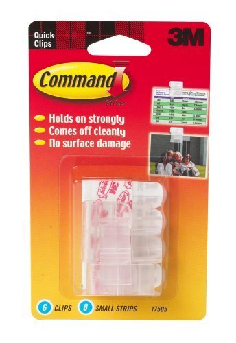 3M Command 17505 Photo Clips, 6 Clips, 8 Strips back-996896
