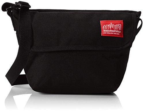 Nylon Messenger Bag (Small), Black