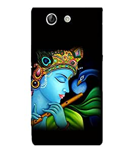 printtech Lord God Krishna Flute Back Case Cover for Sony Xperia Z4 Mini::Sony Xperia Z4 Compact