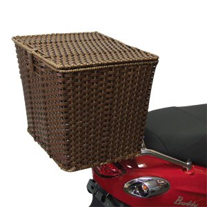 Rear Cargo Basket w/Removable Liner for Scooter, Motorcycle, or Bicycle