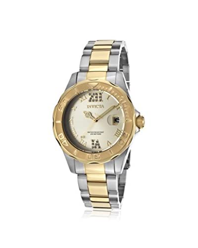 Invicta Women's 17021 Pro Diver Silver-Tone/Gold Stainless Steel Watch