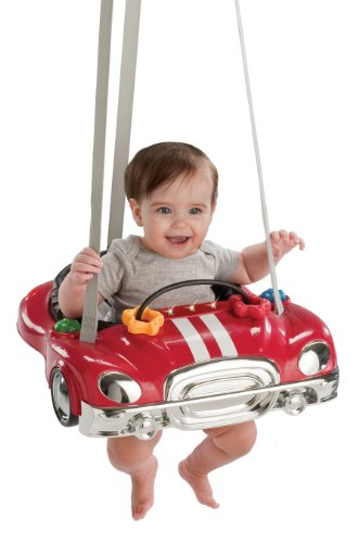 Read About Evenflo Jump & Go Baby Exerciser, Red Racer