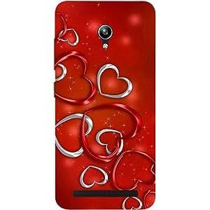 Casotec Hearts Design 3D Printed Hard Back Case Cover for Asus Zenfone Go ZC500TG 5inch