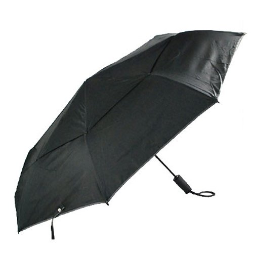 [トゥミ]TUMI 14416-D ラージ・オートクローズ・アンブレラ 折りたたみ傘 ブラック [並行輸入品]