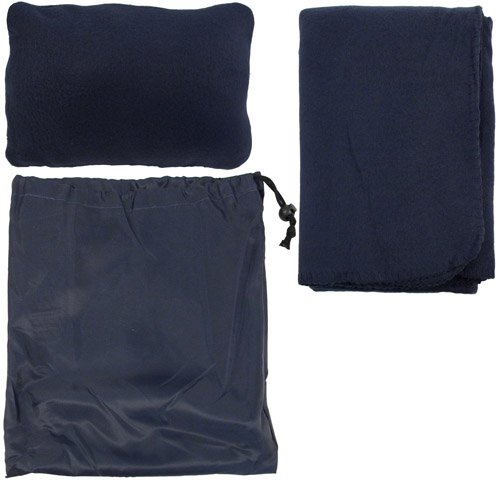 Simplicity Traveling/Outdoor Pillow Set W/ Fleece Blanket And Drawstring Bag