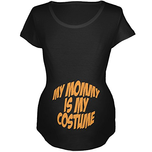 Halloween Mommy Baby Costume Black Maternity Soft T-Shirt