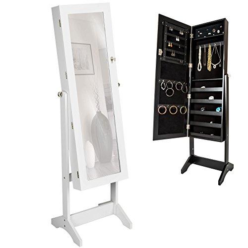 TecTake-Luxus-Spiegelschmuckschrank-mit-extra-groem-Spiegel-Wei