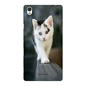 Ajay Enterprises Walking Cute Cat Back Case Cover for Sony Xperia T3
