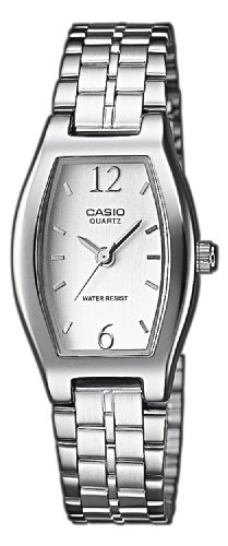 Casio LTP-1281D-7AEF Ladies Watch Quartz Analogue White Dial Silver Steel Strap