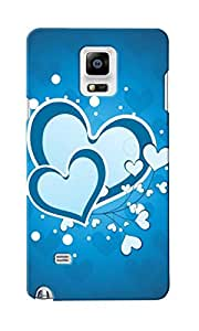 CimaCase Hearts Designer 3D Printed Case Cover For Samsung Galaxy Note 4