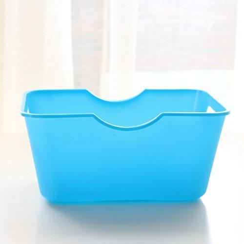 Fanmeili SN2101 Platic Desktop Organizer Scrivania contenitore di immagazzinaggio scatola, blu