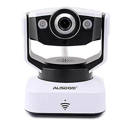 Ausdom D2 720P Wi-Fi Ip Camera Wireless Pan/Tilt, Night Vision, Network Surveillance Camera, Two-Way Audio With Phone Remote Monitoring (Black & White)