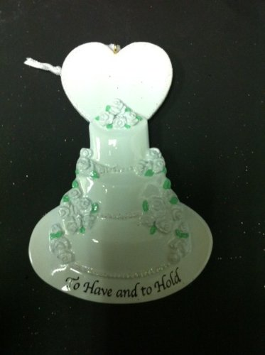Wedding Cake Personalized Christmas Ornament