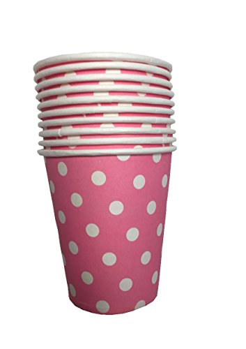 10pcs Polka Dots Paper Party Cups - choice of colours
