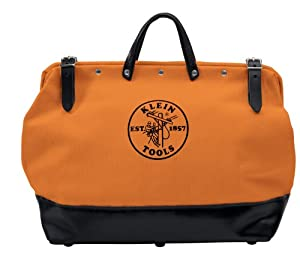 Klein 5002-16-ORG 16-Inch Canvas Tool Bag with Multiple Pockets, Orange